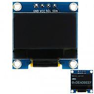 Arduino için 0.96 128x64 i2c arayüzü beyaz renkte oled ekran modülü