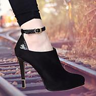 Femme Chaussures à Talons Confort Polyuréthane Printemps Décontracté Confort Talon Plat Noir Plat