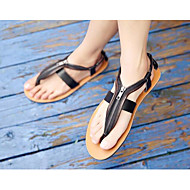 Men's Sandals Comfort Microfibre Leatherette Spring Casual Light Brown Black White Flat