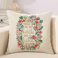 1 szt Cotton / Linen Pokrywa Pillow Poszewka na poduszkę,Słowa i cytaty Modny Litera Retro Tradycyjny / Classic Euro