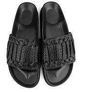 メンズ スリッパ&フリップ・フロップ ナパ革 春 ブラック フラット
