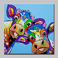 Handgemalte TierAbstrakt Modern/Zeitgenössisch Ein Panel Leinwand Hang-Ölgemälde For Haus Dekoration