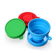 トラベルマグ 折り畳み式 旅行用食器 のために 折り畳み式 旅行用食器 レッド グリーン ブルー