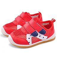 女の子 フラット 赤ちゃん用靴 レザーレット PUレザー 春 秋 アウトドア カジュアル ウォーキング 面ファスナー ローヒール フクシャ レッド ピンク フラット