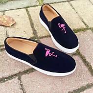 נשים נעליים ללא שרוכים נוחות עדרים אביב סתיו קזו'אל נוחות עקב שטוח שחור צהוב פוקסיה שטוח