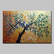 Kézzel festett Virágos / Botanikus Vízszintes,Modern Európai stílus Egy elem Vászon Hang festett olajfestmény For lakberendezési