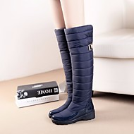 Damen Stiefel Komfort Wildleder Winter Normal Komfort Schwarz Blau Flach