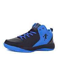 Basketball Shoes Men's Athletic Shoes Comfort PU Spring Fall Outdoor  Lace-up Flat Heel Black/Blue Black/White Black/Red Under 1in