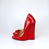 Femme Chaussures à Talons Escarpin Basique Polyuréthane Printemps Automne Soirée & Evénement Escarpin Basique Talon CompenséNoir Rouge