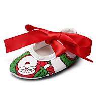 Baby Flate sko Første gåsko Tekstil Vår Høst Bryllup Avslappet Fest/aften Formell Første gåsko Sløyfe Flat hæl Hvit Flat