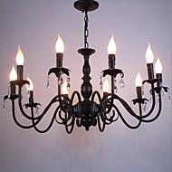 Styl europejski kryształ świeca lampa pokój dzienny lampa jadalnia sypialnia sklep odzieżowy lampy i latarnie dekoracja projekt droplight