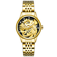 Dames Modieus horloge mechanische horloges Polshorloge Chinees Handmatig opwindmechanisme Roestvrij staal Band Goud