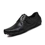 Men's Sneakers Comfort Light Soles Leather Spring Summer Casual Outdoor Buckle Flat Heel Brown Black Walking Shoes