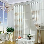 טיפול חלון מעוטר פסטורלי , רקמה חדר שינה חוֹמֶר Sheer וילונות גוונים קישוט הבית For חַלוֹן