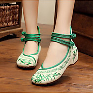 Kadın Dans Sneakerları Kumaş Babetler Egzersiz Kırmzı Yeşil Mavi