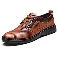 גברים נעלי אוקספורד קריפרס סוויד אביב סתיו קזו'אל קריפרס שרוכים פלטפורמה שחור חאקי שטוח