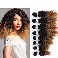 カール カーリー三つ編み ヘアエクステンション 髪の三つ編み