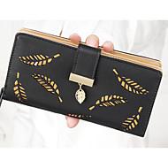 여성 동전 지갑 PU 폴리에스테르 사계절 지퍼 타입 푸른 블랙 핑크