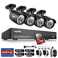 Sannce® 4ch cctv beveiligingssysteem onvif 1080p ahd / tvi / cvi / cvbs / ip 5-in-1 DVR met 4 stuks 2.0mp camera's 1tb hdd