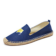 Women's Loafers & Slip-Ons Moccasin Espadrilles Light Soles Applique Cotton Denim Summer Fall Casual Office & Career Party & Evening Moccasin