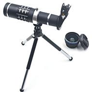 Hd telefon lensleri kiti 18x zoom telefoto 0.45x geniş açılı 15x süper makro objektif lensler için samsung akıllı telefonlar kamera