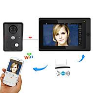 7 polegadas sem fio / wifi wifi ip video porta telefone porta-voz sistema de intercomunicação com suporte remoto aplicativo