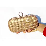 Női Egyéb bőrtípus Estélyi táska Arany / Ezüst / Fekete