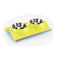 Katze Hund Schalen & Wasser Flaschen Haustiere Schüsseln & Füttern Wasserdicht Tragbar Langlebig Zufällige Farben