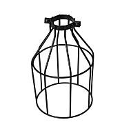 ヴィンテージ工業DIY黒の金属の鳥のかごのランプシェードの照明カバーペンダントライトの壁ランプの交換ランプカバー
