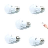 3W Lâmpada de LED Inteligente A60(A19) 9 SMD 2835 200 lm Branco Quente Branco Frio Sensor Ativada Por Som Decorativa Controle de luzAC