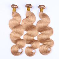 Emberi haj Brazil haj Precolored Hair sző Hullámos haj Póthajak 3 darab Eperszőke