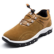 Men's Athletic Shoes Comfort Spring Fall Rubber Outdoor Lace-up Flat Heel Black Gray Yellow Blue Under 1in