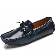 Unisex Boat Shoes Moccasin Summer Fall Nappa Leather Casual Party & Evening Dark Blue Light Brown Burgundy Flat