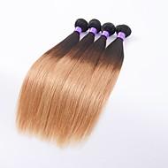 Ombre Intialainen Straight 6 kuukautta 4 osainen hiukset kutoo 0.4 kg Nopeat irtohiukset