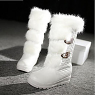 Women's Shoes PU Winter Comfort Fashion Boots Boots For Casual White Black