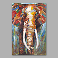 Maalattu Eläin Pysty,Moderni 1 paneeli Kanvas Hang-Painted öljymaalaus For Kodinsisustus