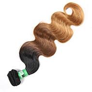 Emberi haj Indiai haj Ombre Hullámos haj Póthajak 1 darab Fekete / Medium BROWN / Strawberry Blonde