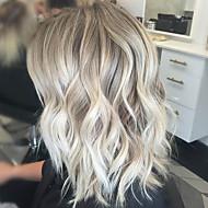 אופנתי אופנתי צבע בינוני ארוך שיער מתולתל לאישה