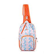 Mulher Bolsas Primavera/Outono Verão Lona Bolsa de Cintura com para Esportes Laranja Azul Céu Rosa claro