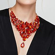 Women's Statement Necklaces Bib necklaces Flower Gemstone Resin Fashion European Luxury Elegant Costume Jewelry Jewelry For Party