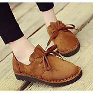 Damen Loafers & Slip-Ons Komfort Beflockung PU Frühling Normal Schwarz Armeegrün Khaki 5 - 7 cm