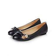 Dame Flate sko Komfort PU Vår Avslappet Flat hæl Svart Grønn Lys Rosa Under 2,5 cm