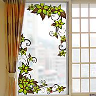 花柄 ウインドウステッカー,PVC /ビニール 材料 窓の飾り