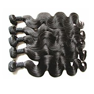 Por atacado classe superior virgem brazilian corpo onda cabelo humano 5bundles 500g lote natural cor de cabelo original textura macia e