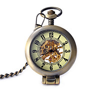 Men's Women's Pocket Watch Automatic self-winding Noctilucent Alloy Band Bronze