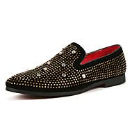 Herren Schuhe Künstliche Mikrofaser Polyurethan Frühling Herbst Komfort Leuchtende Sohlen Tauchschuhe Loafers & Slip-Ons Für Normal Party