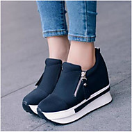 Dames Platte schoenen Comfortabel PU Zomer Causaal Zwart Rood 7,5 - 9,5 cm