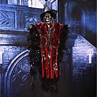 Halloween rekvisiitta puolue bar ktv koriste ääni aktivoitu roikkuu kallo luuranko aave kanssa hehkuva punainen silmät ja äänitehosteet