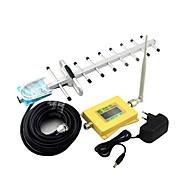 Älykäs näyttö matkapuhelin dcs 1800mhz 4g signaalin tehosterokotus dcs980 signaali toistin, jossa piiska antenni / yagi-antenni keltainen