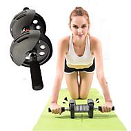 腹筋ローラー プッシュアップバー ヨガ エクササイズ&フィットネス ジム用 フィットネス ダンピング 耐久性 車輪 筋力トレーニング ステンレス+ABS樹脂-